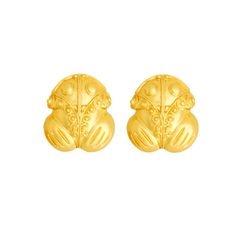 Topos medianos de rana - Precolumbian toad studd large sized earrings