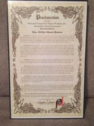Willie Marie Brown Proclamation
