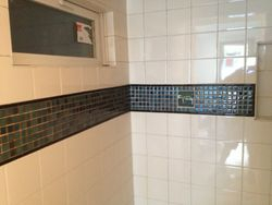 new tiled shower