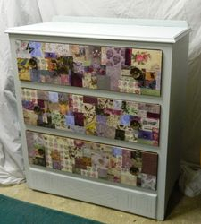 Decoupaged drawers