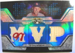 Stan Musial 2008 Topps Triple Threads Game Used Relic Card 3/3