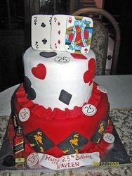 CAKE 1A2- Poker & Johnny Walker Cake