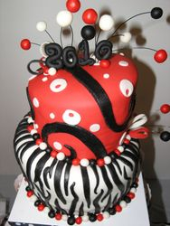 Zebra/Red Topsy Turvy