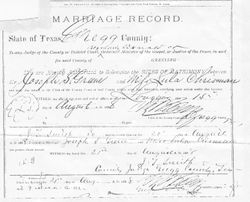 Marriage Certificate August 1888