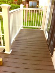 Composite Decking with Vinyl Handrail Kits