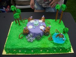 Monkey Birthday Party Cake