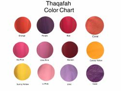 Thaqafah color chart