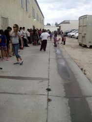 THE DAY OF THE 2014 ANNUAL BACK TO SCHOOL GIVEAWAY!