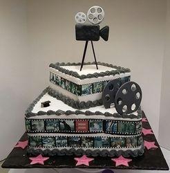LA Film School Graduation Cake