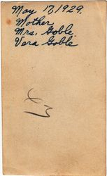 Vera Goble - back