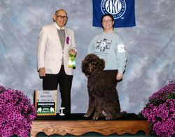 Penny with new CDX title and winning third place.  10/14/10.