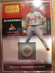 Albert Pujols 2005 Donrus Playoff All Star Materials Game Used Button