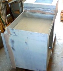 Chris Craft fridge and oven container