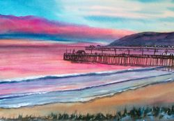 Pink Sunset at Avila Beach