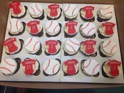 Baseball Team Cupcakes
