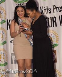Demetria McKinney and Natyely Frias attend KiddiePreneur Recognition Event - iPlay America