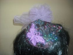 Purple Fascinator