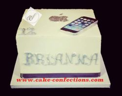 Apple iPhone Themed Cake