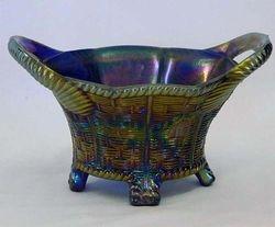 Bushel Basket, 8 sided, blue