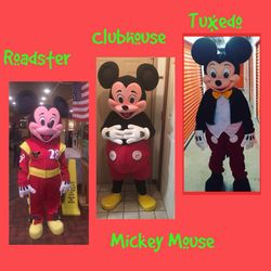Roadster, Clubhouse & Tuxedo Mickey