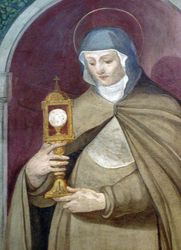 St. Clare Holding the Eucharist,