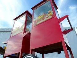 Popcorn carts, vending hot fresh popcorn at your event.