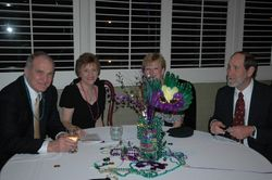 a leading board member, Mrs. Pam Cosby with husband and guests