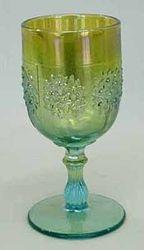 Orange Tree wine glass, aqua