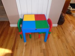 Play Build Lego Table & Chairs Set - $40