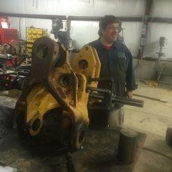 Line-Boring Heavy Equipment Parts