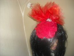 Red Rose Petal Fascinator
