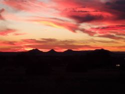 Breathtaking Santa Fe sunset