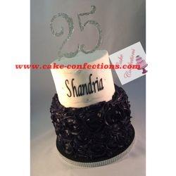 Rosettes and Bling Cake