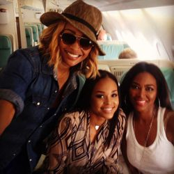 Cynthia Bailey, Demetria McKinney and Kenya Moore All Aboard: Cast Trip - Real Housewives Of Atlanta