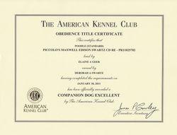 Maxwell CDX title certificate
