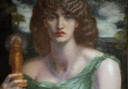 Rossetti, Mnemosyne, detail, WilmingtonA web