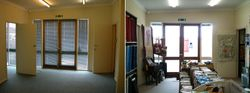 One of our fabric rooms before and after
