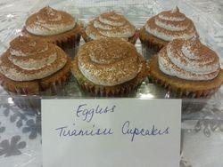 Eggless Tiramisu Cupcakes