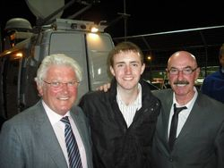 Broadcasting legends Jackie Fullerton and Liam Beckett