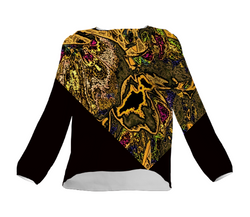 Artistic evening blouse