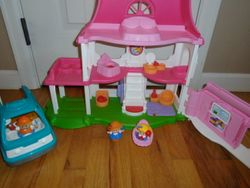 Fisher Price Little People Happy Sounds Home with Camper - $20