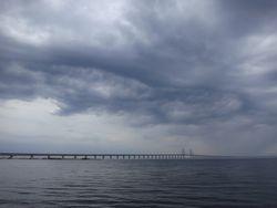 Clouds over Malmo Bridge
