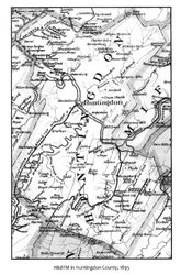The Route of the Huntingdon & Broad Top Mountain Railroad in Huntingdon County