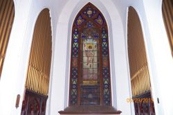 Gorgeous main window above the altar