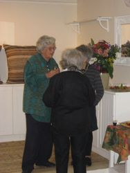 Opening morning of Norma's exhibition