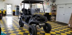 2019 Club Car Tempo All black with leopard print in seats
