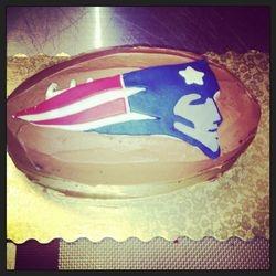 New England Patriots Football Cake