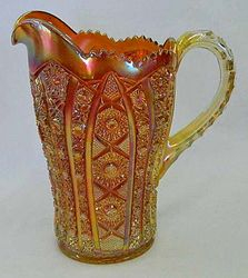 Octagon small size water pitcher, marigold