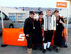 The saussages Sponsor the German Company Stihl