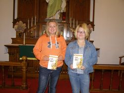 6th grade Confirmation students receive study Bibles